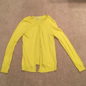 Old Navy Yellow Cardigan